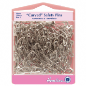 Hemline Curved Safety Pins - 38mm long
